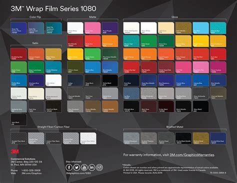 3m 1080 colors 3m vinyl colour chart