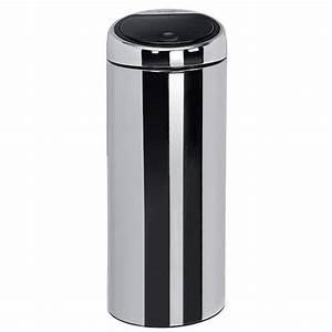 Brabantia Touch Bin 30 Liter Wit.Brabantia Touch Bin Brabantia Touch Bin 30 Litre Platinum At