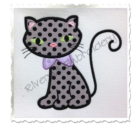 Machine Embroidery Designs Applique by Applique Black Cat Machine Embroidery Design