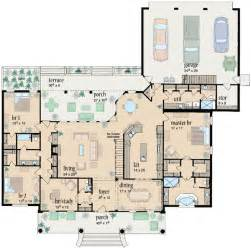 The Bedroom Bath Ranch Floor Plans by Ranch Style House Plans 2981 Square Foot Home 1 Story