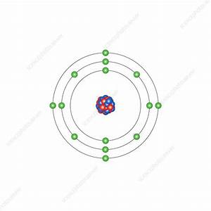 Silicon  Atomic Structure - Stock Image C013  1527
