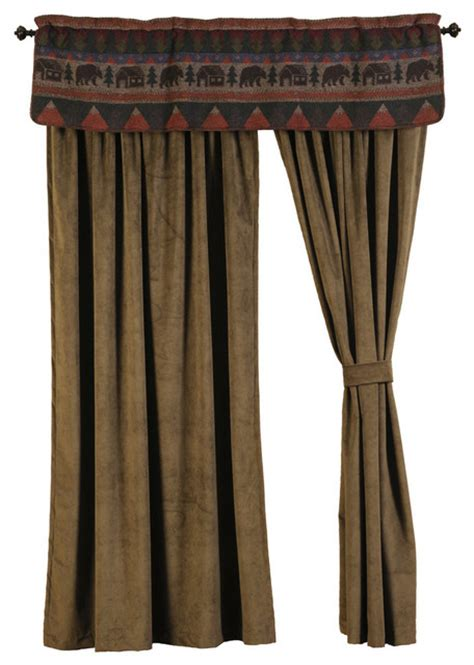 cabin drape set rustic curtains by wooded river inc