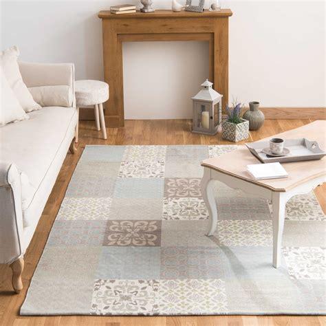 bureau fille ado tapis motifs carreaux de ciment 160 x 230 cm provence