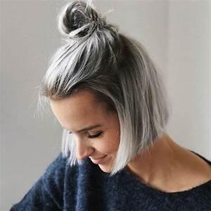 Coupe Carré Plongeant Femme : balayage blond polaire gris ~ Melissatoandfro.com Idées de Décoration