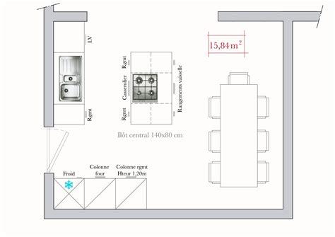 amenagement cuisine rectangulaire conseils d 39 architecte plans de cuisine en ã lot ilot plan