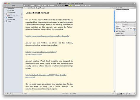 Comic Page Script Template by Scrivening Comics Writing Comics Medium