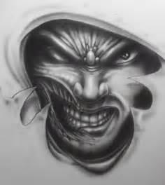 Evil Face Tattoo Designs