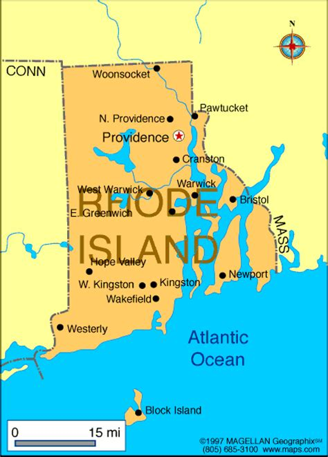 rhode island map infoplease
