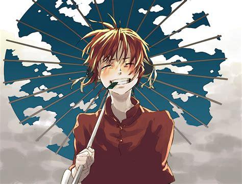 gintama kagura umbrella redhead seaweed wallpapers hd