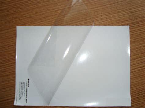 pvc transparent stickers  laser printer