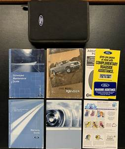Oem 2002 Ford Ranger Vehicle Owners Guide Manual With Case