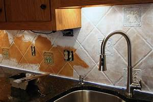 How to paint a tile backsplash my budget solution for Kitchen colors with white cabinets with wall art ceramic tile wall hangings