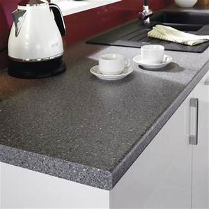 Dark Granite Effect worktop Kitchen worktops Howdens