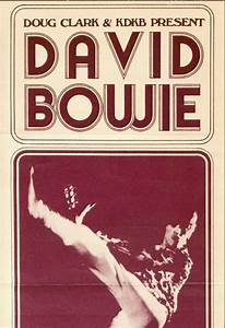 david bowie 1972 concert poster from