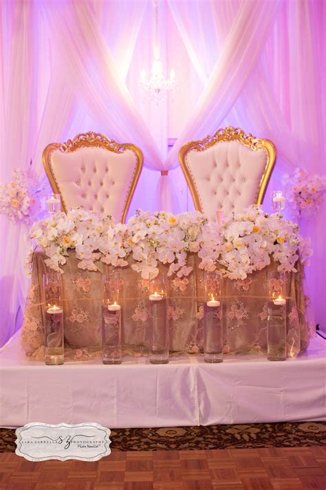 Sweetheart Table With Our King And Queen Chairs Romance