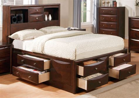 7293 king size storage bed parisot space up storage bed family window