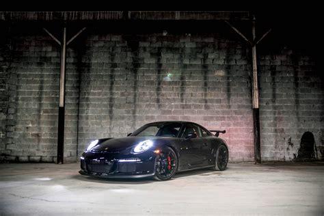 black porsche 911 gt3 black porsche 991 gt3 with red gmg roll bar installed by