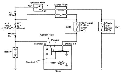 Starter Wiring Diagram Schematic by Repair Guides Starting System General Information