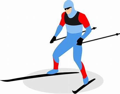 Clipart Ski Skiing Biathlon Skier Cross Country