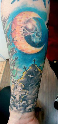 graveyard tattoo picture  checkoutmyinkcom tree graveyard moon tattoos picture tattoos