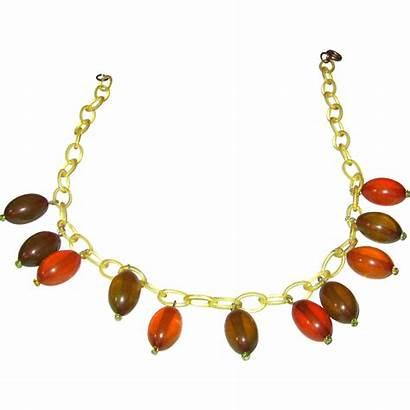 Transparent Necklace Chain Celluloid Bakelite Dangles Rubylane