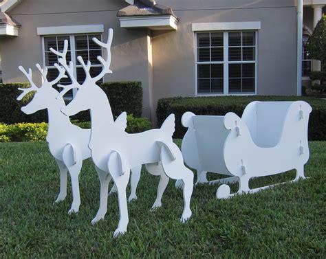 santa sleigh reindeer outdoor yard decoration new