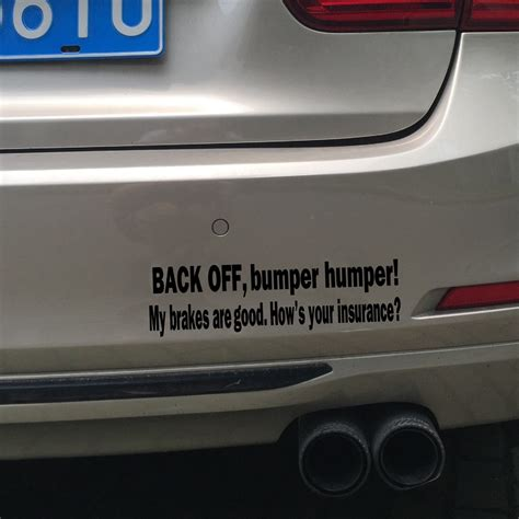 bumper humper tailgate funny car truck window