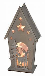 Led Bild Selber Machen : led deko holz h uschen mit hirsch und tanne weihnachtsdeko fensterdeko tischdeko m bel wohnen ~ Bigdaddyawards.com Haus und Dekorationen