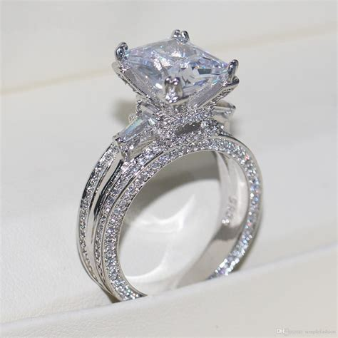 2018 Vecalon Women Big Jewelry Ring Princess Cut 10ct. Timeless Wedding Rings. Religious Wedding Rings. Oxidized Wedding Rings. Wide Engagement Rings. Bead Engagement Rings. Shell Shotgun Wedding Wedding Rings. Crossover Rings. Worn Wedding Rings