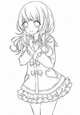 Anime Coloring Sheets Printable Manga Kawaii Lineart Chibi A4 Sketch Drawings Drawing Samsfriedchickenanddonuts Coloringonly Desenho Books Chifuyu San Elf Draw sketch template
