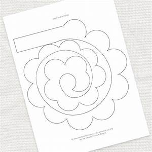 7 best images of printable templates paper flower paper flower template printable paper for Paper roses template