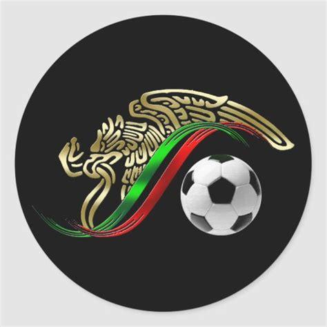 Mexico flag emblem Soccer futbol Logo Classic Round ...