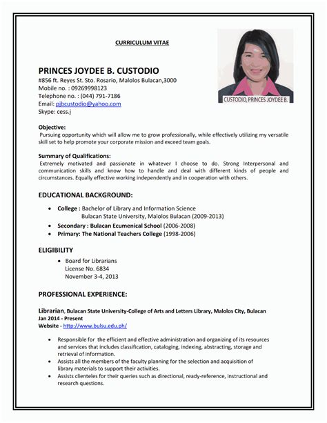 Our cv examples will give you inspiration on how to design the right cv for the job. Resume Sample First Job (With images) | Job resume examples, Job resume format, Job resume samples