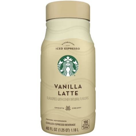 Milk or cream of your choice. Fry's Food Stores - Starbucks Iced Vanilla Latte Chilled Espresso Coffee Bottle, 40 fl oz