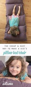 how to make a kids' pillow bed {the easiest & cheapest way ...