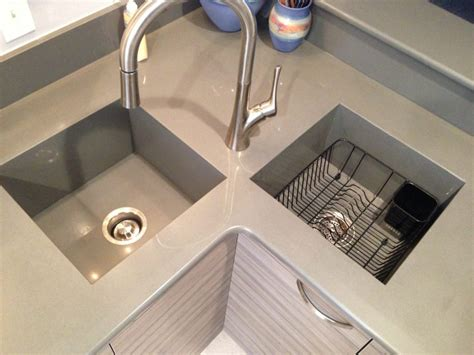 kitchen sink built into countertop integrated silestone quartz countertop sink integrated