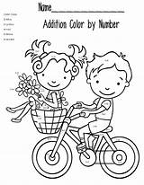 Math Coloring Pages Addition Printable Worksheet sketch template