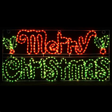 32 inch red and green led merry christmas sign green merry led rope light decoration sign indoor outdoor