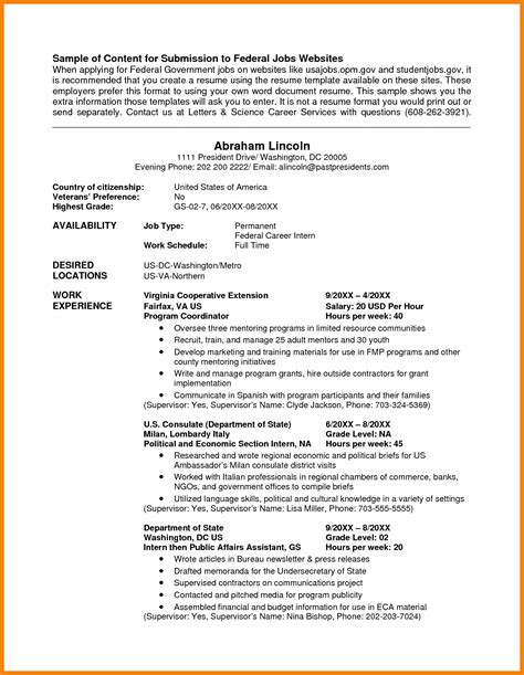 Usajobs Resume Exle by Usa Cover Letter Resume Cv Cover Letter