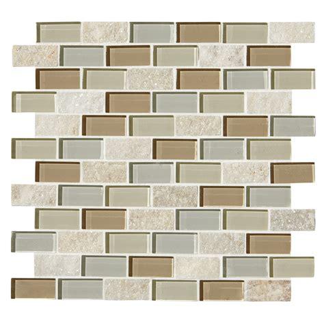 American Olean Mosaic Tile by Shop American Olean Delfino Icy Mist Mosaic