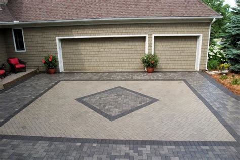 driveway paver designs paver driveways in minneapolis st paul minnesota
