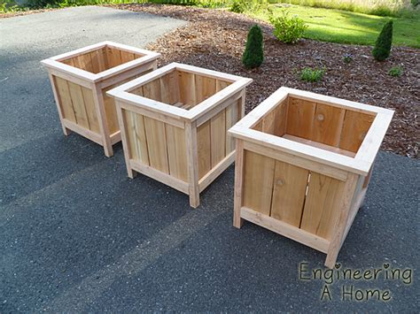 ana white cedar planter boxes diy projects