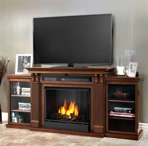 fireplace entertainment centers 67 quot espresso entertainment center gel fireplace