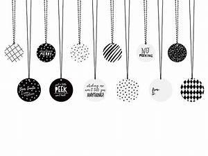 Weihnachtsmotive Schwarz Weiß : geschenkeanh nger weihnachten schwarz weiss mit kordeln 12 st ck ~ Buech-reservation.com Haus und Dekorationen