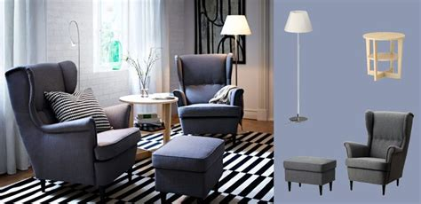 sofa dsseldorf stunning ikea strandmon sofa with strandmon wing chairs and footstool with svanby grey cover