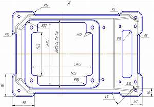 The Drawing Of The Part  U00abframe Of The Terminal Box 5amn 315 U00bb  View A