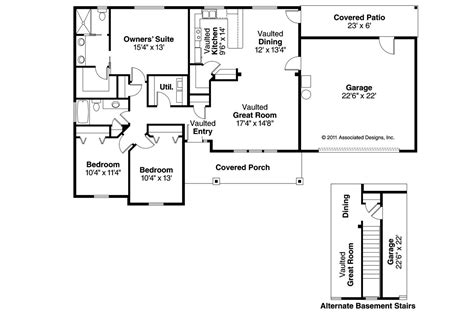floor plans craftsman house plans stanford 30 640 associated designs