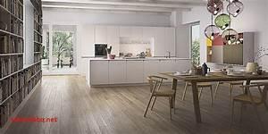 cuisine blanche avec parquet pour idees de deco de cuisine With idee deco parquet