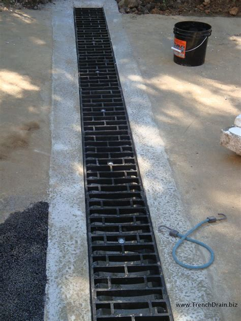 sidewalk trench drain econodrain the versatile poured in place trench drain 2210