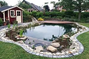 schwimmteich mit gartenhauschen zanders gartenbau With französischer balkon mit garten schwimmteich